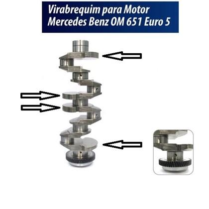 VIRABREQUIM DO MOTOR OM651 2.1 16V 2013 ... EURO 5 4 CONTRAPESOS